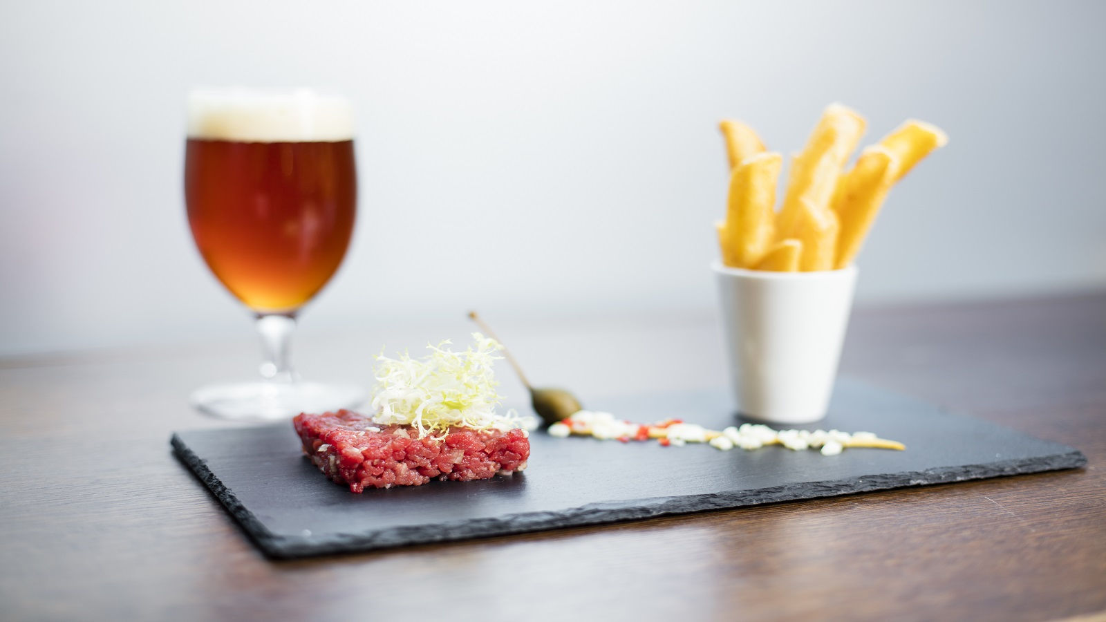 Beef tartare with French Fries